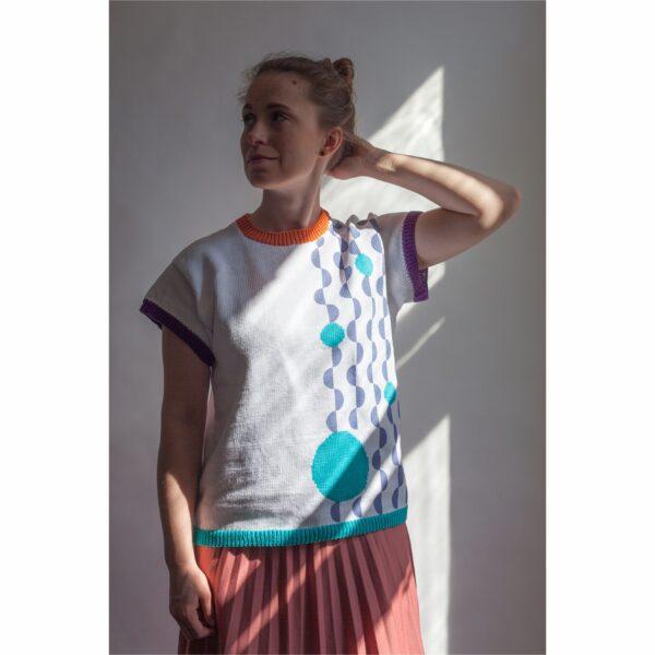 bluzka z bawełny z recyklingu