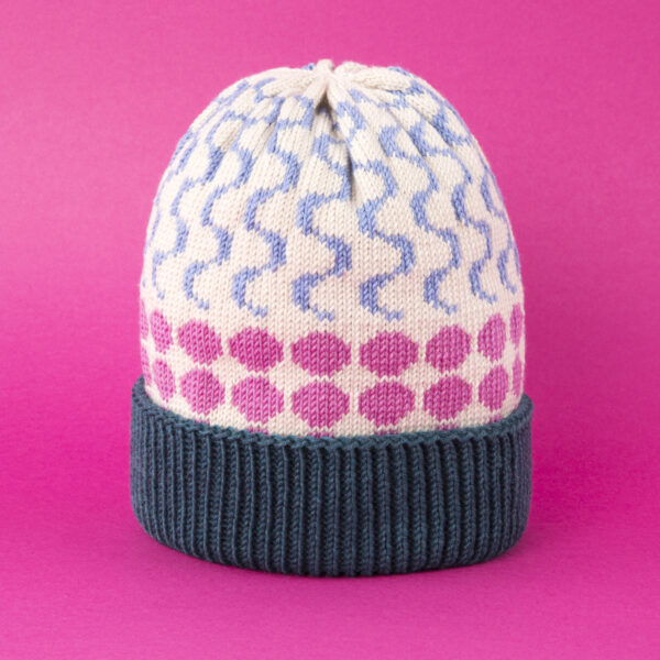 kolorowa wełniana czapka