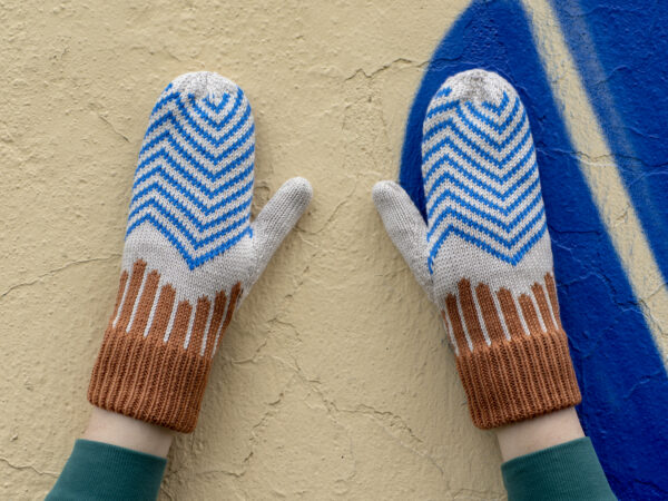 rękawiczki w kolorowy wzór